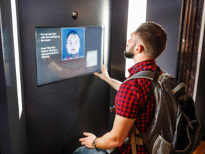 A man undergoes an access control procedure using the recognition of a person in the process of identification and authentication, the concept of modern security systems